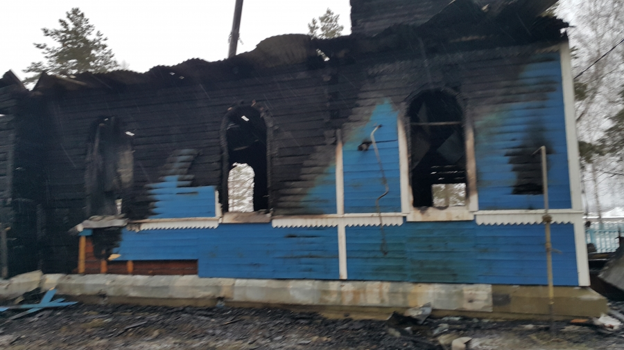 Церковь сгорела вУльяновской области